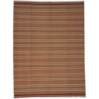 Hand-woven Wool Oriental Multi Rectangle Rug (8'8 x 11'7)