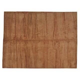 Handmade Wool Oriental Multi Rectangle Rug (9' x 11'7)
