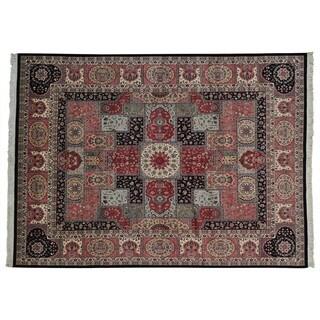 Handmade Wool Oriental Multi Rectangle Rug (9'5 x 12'5)