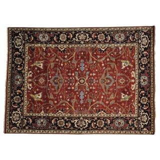 Handmade Wool Oriental Rust Rectangle Rug (8'8 x 12')