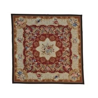 Handmade Wool Oriental Rust Square Rug (8' x 8')