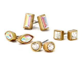 Sweet Romance Set of 4 Swarovski Element Stud Earrings