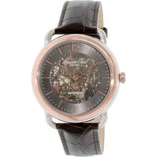 Kenneth Cole Men's Rose Goldtone Leather Automatic Watch