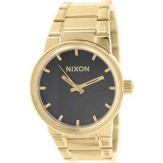 Nixon Men's Cannon Goldtone Stainless Steel Quartz Watch|https://ak1.ostkcdn.com/images/products/10167860/P17295907.jpg?impolicy=medium