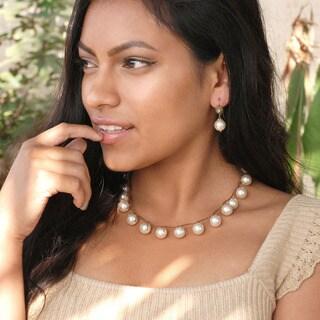 Sweet Romance Boho Hand Woven Pearl Beach Necklace
