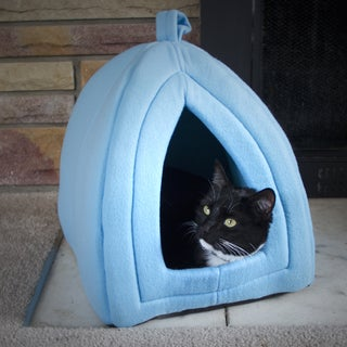 Paw Blue Enclosed Igloo Tent Cat Bed