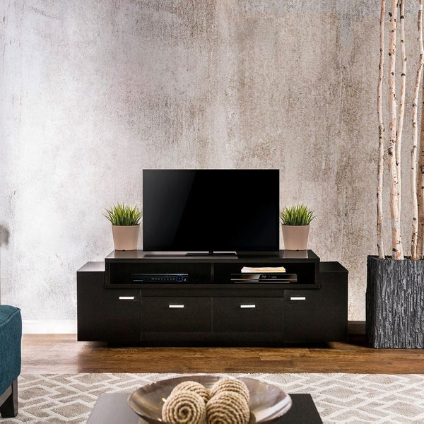 Furniture Of America 60 Inch Peyton Modern Tiered TV Stand