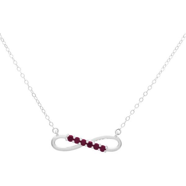 Sterling Silver Swarovski Birthstone Infinity Necklace. Opens flyout.