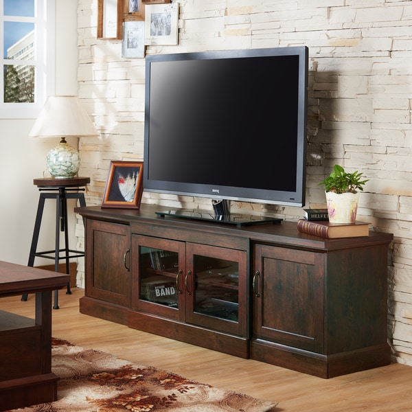 High Quality Furniture Of America Walder Vintage Walnut 68 Inch TV Stand
