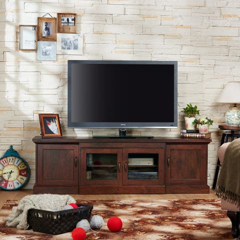 Furniture of America Bick Rustic 68-inch 6-shelf TV Stand