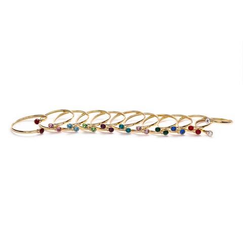 Isla Simon Birthstone 10Mm Crystal Bangle Bracelet With Swarovski Element Crystals