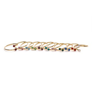 Isla Simon Birthstone 10Mm Crystal Bangle Bracelet With Swarovski Element Crystals (More options available)