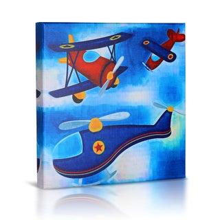'Airplanes' Canvas Gallery Wrapped Art