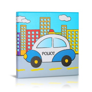 'Police' Canvas Gallery Wrapped Art