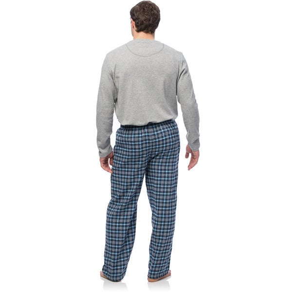 Ten West Men/'s Sleepwear Short Sleeve and Pajamas White Light Blue Plaid Size S
