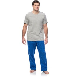 Tommy Hilfiger Men's Pajama Pack (2 Logo Pants and Short Sleeve)