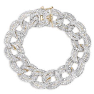 Finesque Silver 1ct TDW Diamond Chain Link Bracelet|https://ak1.ostkcdn.com/images/products/10168088/P17296125.jpg?impolicy=medium