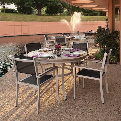 Oxford Garden Travira 5- piece Set, Black Sling - Tekwood Armchairs