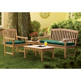 Oxford Garden Chadwick 4-piece Set with Armchair and Bench Cushion