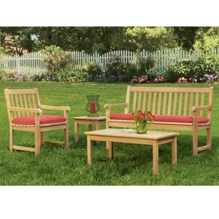 Oxford Garden Classic 4-piece Set with Armchair and Bench Cushion