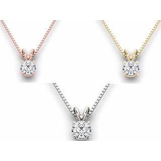 De Couer 14k Gold 3/4ct TDW Diamond Exquisite Necklace (H-I, I2)