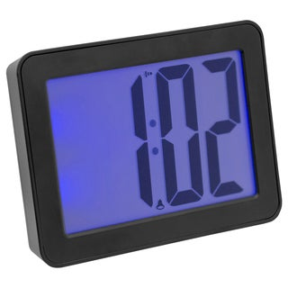 iWake 2.5-inch LCD Digital Alarm Clock with Blue Back-light