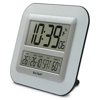 Atomic LCD Wall Clock with Temperature Date Humidity T-4680