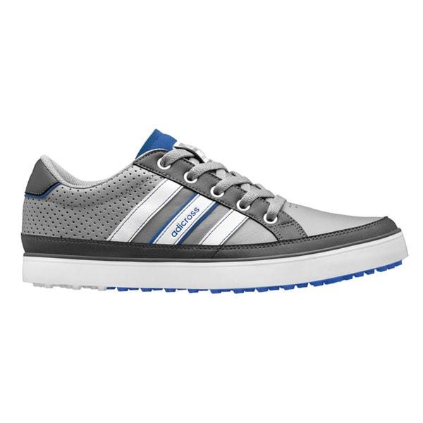 Adidas Men's Adicross IV Q47046 Grey/ White/ Blue Golf Shoe