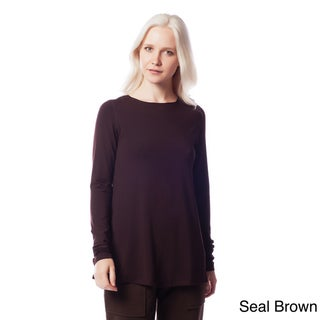 AtoZ Long Sleeve Modal Relaxed Fit Top