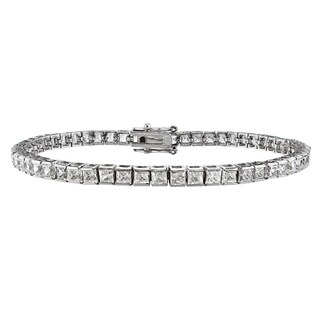 Montebello 14k White Gold 5ct TDW Princess-cut White Diamond Tennis Bracelet (H-I, I1-I2)