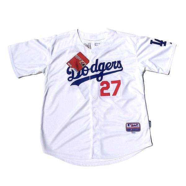 Shop Los Angels Dodgers  27 Matt Kemp White Baseball MLB Jersey - Free  Shipping Today - - 10168240 c0b542673