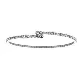 Isla Simone Single Row Crystal Flex Bangle
