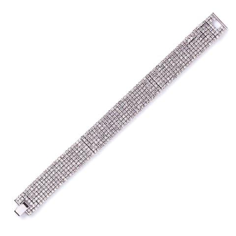 Isla Simone Seven Row Crystal Bracelet