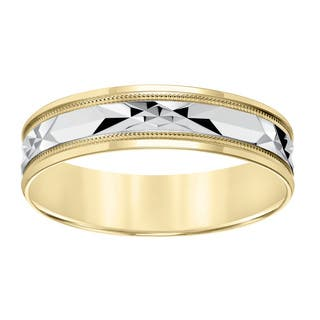 Cambridge 10k Yellow Gold Men's Milgrain Engraved Wedding Band|https://ak1.ostkcdn.com/images/products/10168258/P17296268.jpg?impolicy=medium