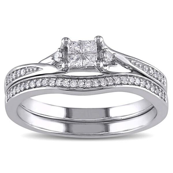 Quad Diamond Engagement Ring