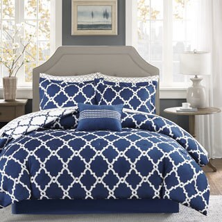 Clay Alder Home Denver Navy Reversible Complete Comforter and Cotton Sheet Set (More options available)