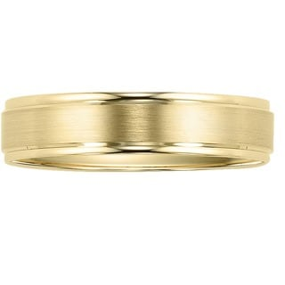 Cambridge 10k Yellow Gold Men's Sleek Wedding Band