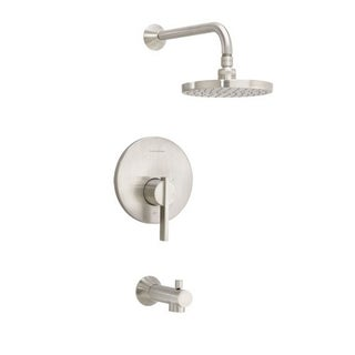 American Standard Berwick Tub and T430.502.295 Satin Nickel Shower Faucet