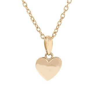 Pori 14k Yellow Gold Overlay Puff Heart Pendant Necklace|https://ak1.ostkcdn.com/images/products/10168304/P17296276.jpg?_ostk_perf_=percv&impolicy=medium