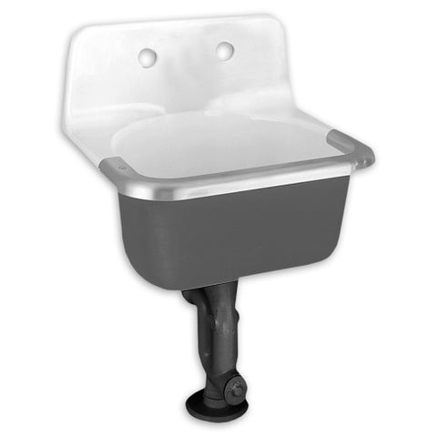 American Standard Lakewell Iron 7692.008.020 White Utility Sink