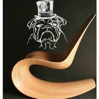 Classy English Bulldog Vinyl Sticker Wall Art