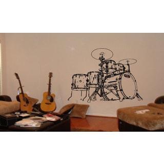 Drum Set Vinyl Sticker Wall Art