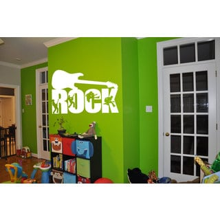 Rock Guitar Vinyl Sticker Wall Art