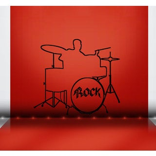 Rock Drum Set Vinyl Sticker Wall Art