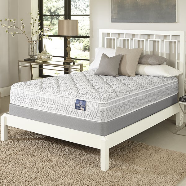 Serta Gleam Euro Top California King-size Mattress Set - White