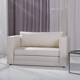 Corona Beige Convertible Loveseat Sleeper