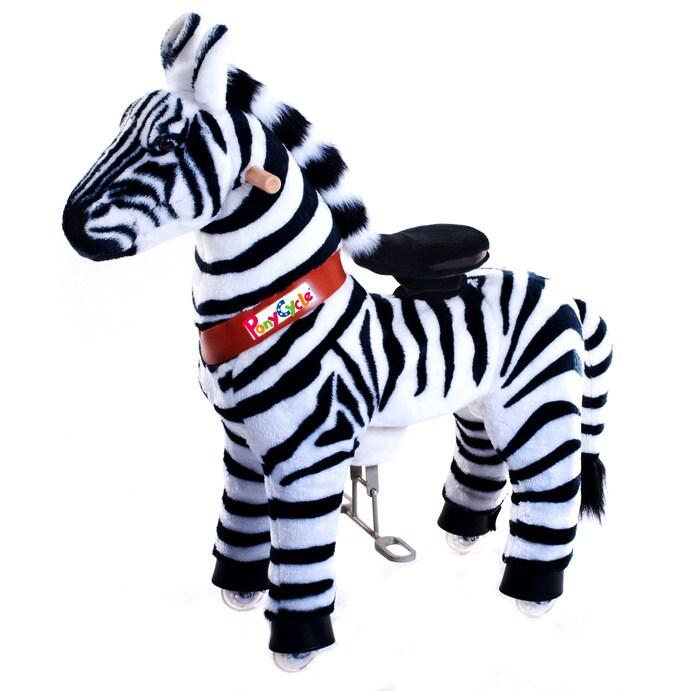 Merske Vroom Rider PonyCycle Ride-On Zebra (Small: 3-5 yr...