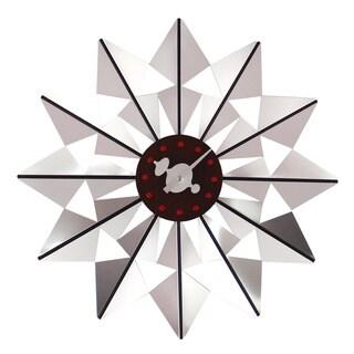 Hans Andersen Home Silver Butterfly Clock