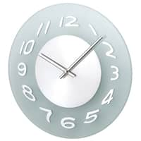 Hans Andersen Home Aluminum Frosted Wall Clock