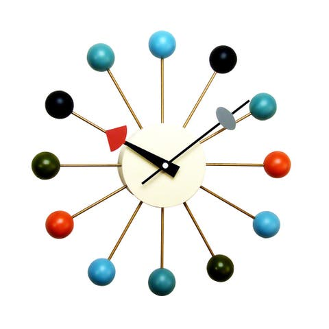Hans Andersen Home Multi-Colored Ball Clock